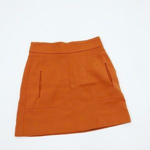 Zara Orange A-Line Mini Skirt